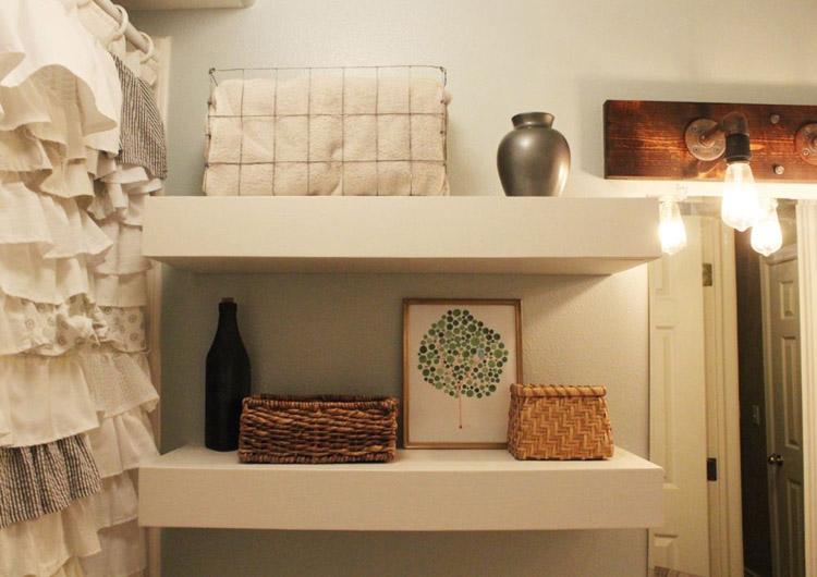 DIY Floating Shelves by Homedit