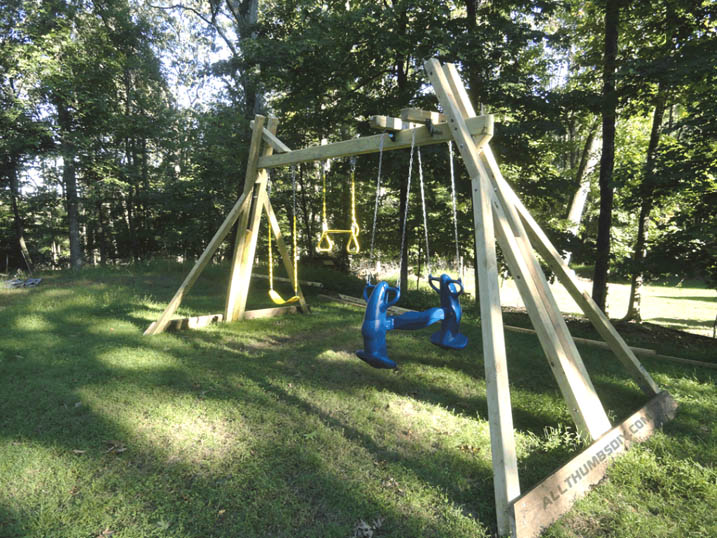 DIY Freestanding Swing Set