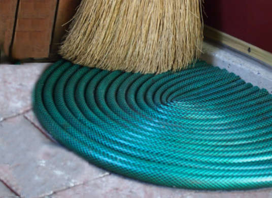DIY Garden Hose Doormat