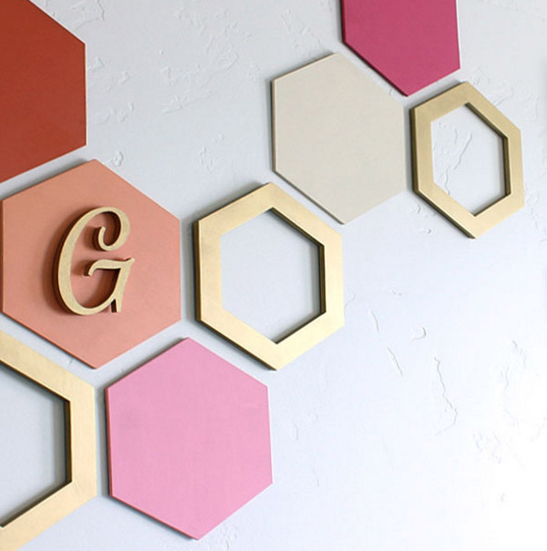DIY Hexagon Wall Art
