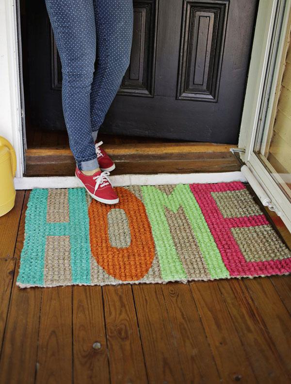 DIY 'Home' Mat