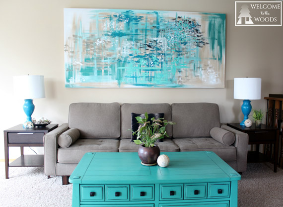 DIY Huge Canvas Wall Art