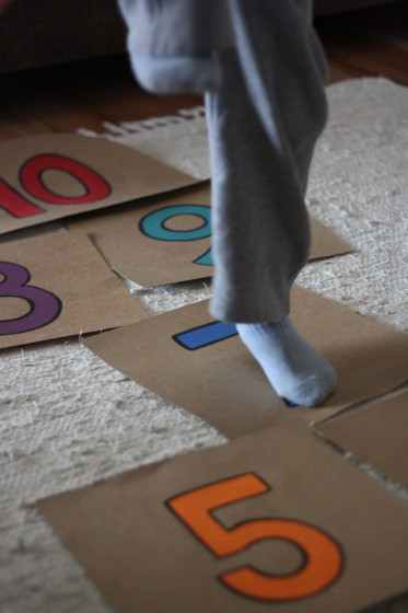 DIY Indoor Hopscotch