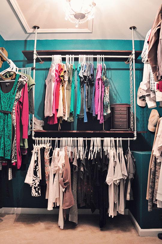 DIY Industrial Chic Closet Organizer