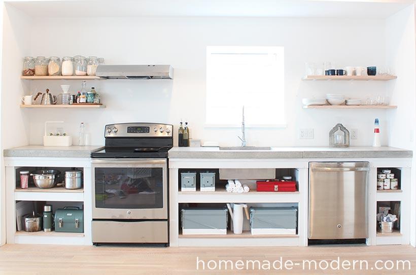 DIY Kitchen Cabinets by HomemadeModern