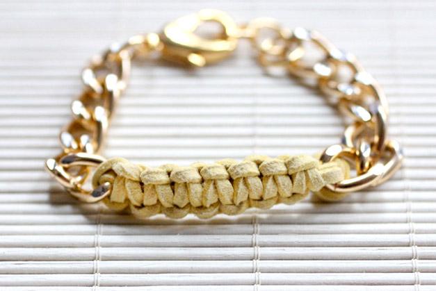 DIY Knot Chain Bracelet