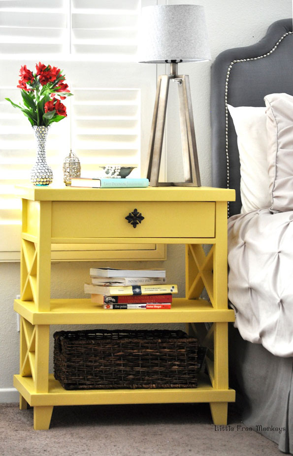 DIY Lattice Bedside Table