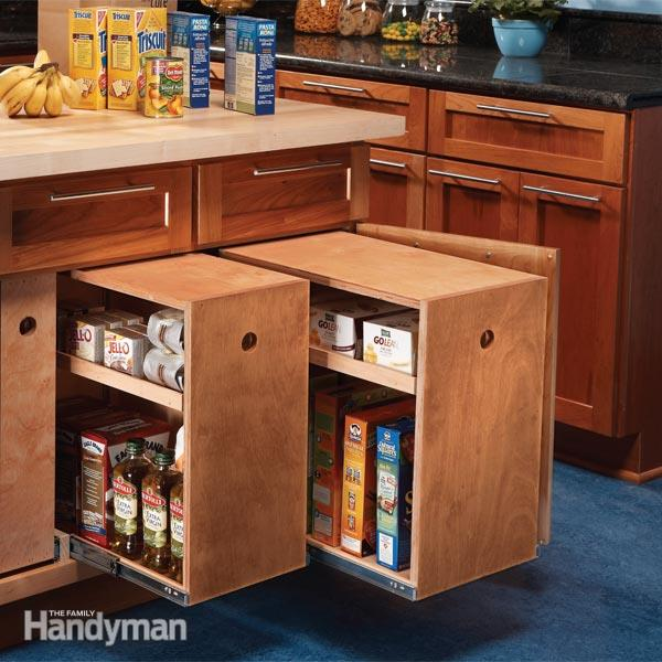DIY Lower Cabinet Rollouts