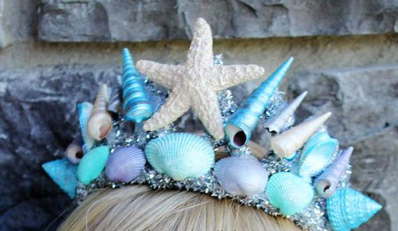 DIY Mermaid Tiara For Marmaid Costume