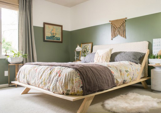 DIY Mid-Century Inspired Bed