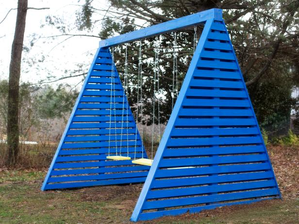 DIY Modern A-Frame Swing Set