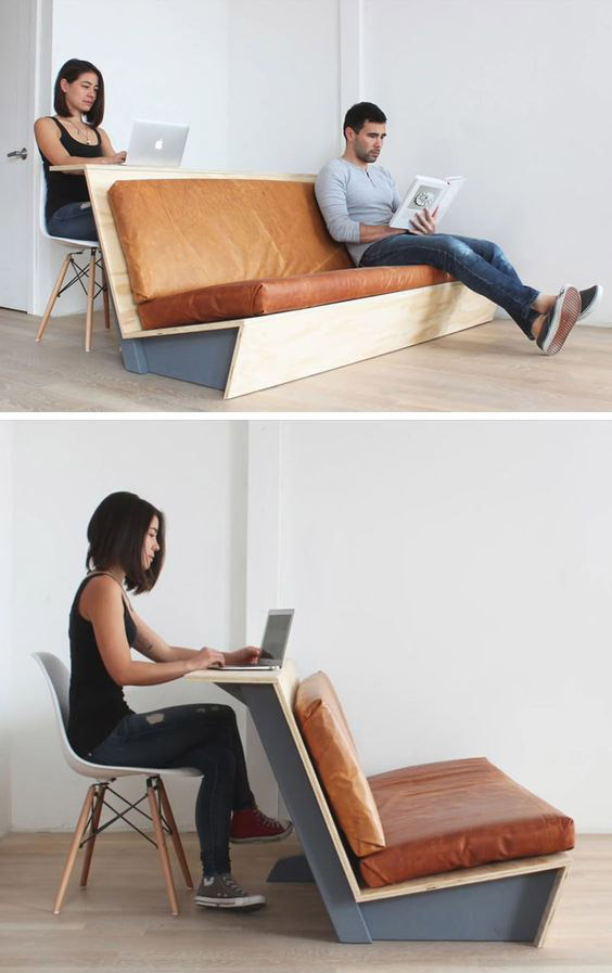 DIY Modern Couch That Also Doubles As A Desk