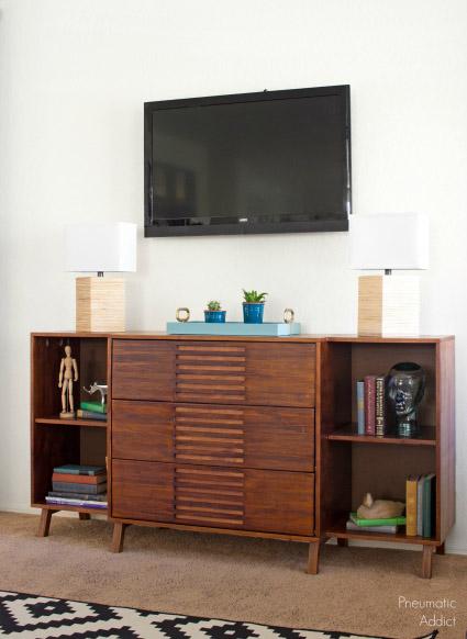 DIY Modern Dresser & Bookshelf Combo