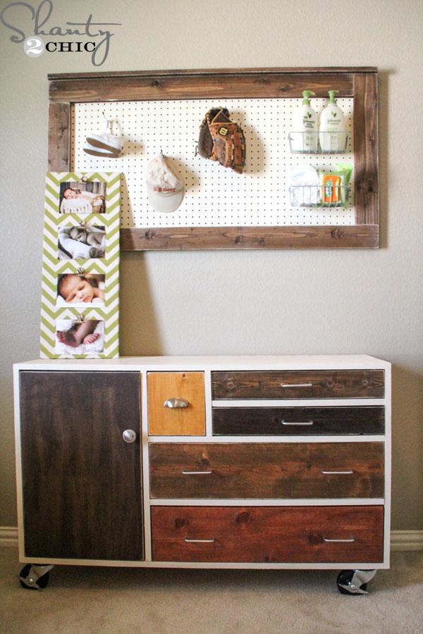 DIY Modern Patchwork Dresser