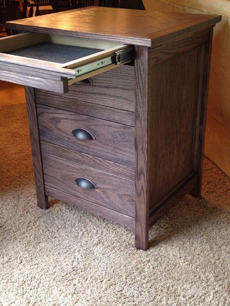 DIY Night Stand With Locking Secret Hidden Drawer