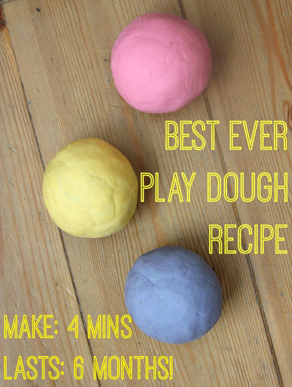DIY No-Cook Play Dough Recipe