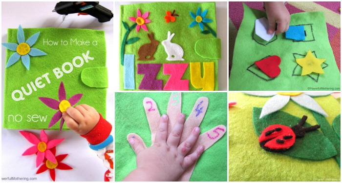 DIY No Sew Quiet Book For Toddlers