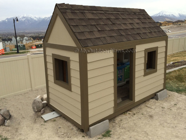DIY Outdoor Playhouse by MyOutdoorPlans