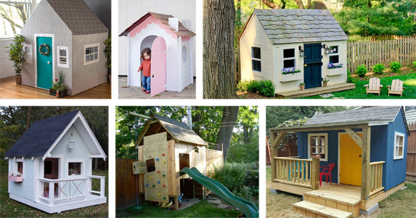 25 Free DIY Playhouse Plans That Kids Will Love