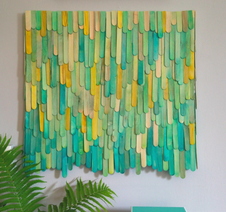 DIY Popsicle Stick Art Canvas