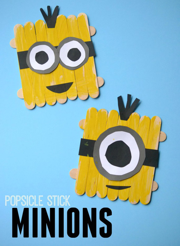 DIY Popsicle Stick Minions Kid Craft