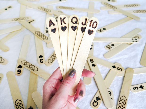 DIY Popsicle Stick Playing Cards