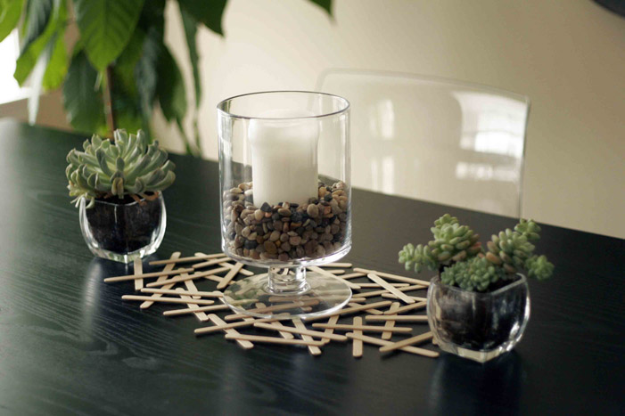 DIY Popsicle Stick Table Runner