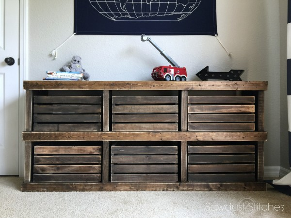 DIY Pottery Barn Inspired Crate Dresser