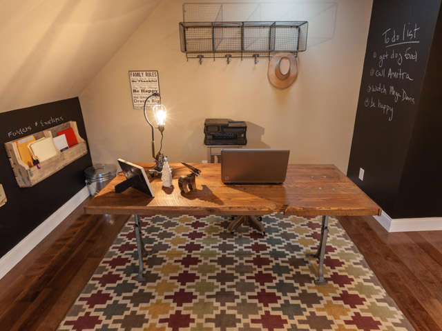 DIY Reclaimed Wood Office Desk by DIYNetwork
