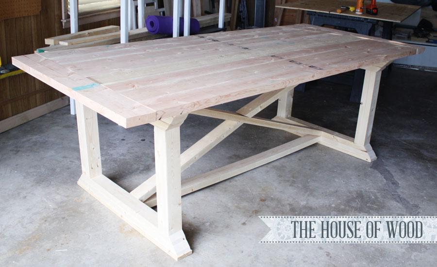 DIY Rekourt Farmhouse Table by JenWoodHouse