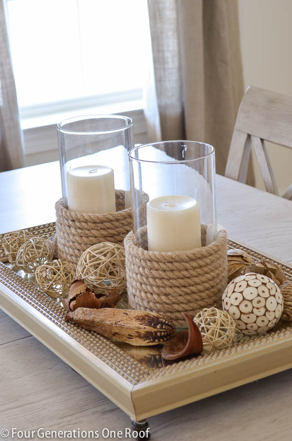 DIY Rope Candle Holers