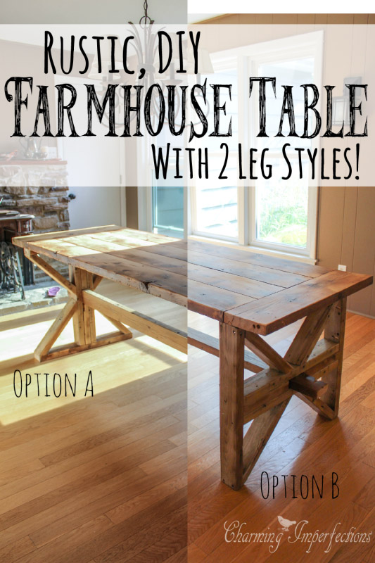 DIY Rustic Farmhouse Table by CharmingImperfections