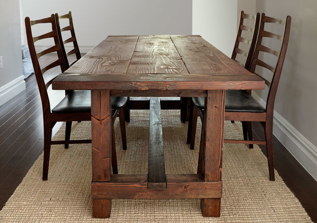 DIY Rustic Farmhouse Table by PM