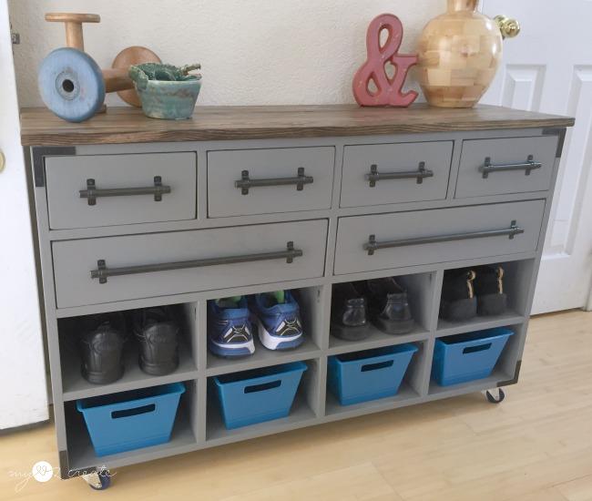 DIY Shoe Cubby Dresser
