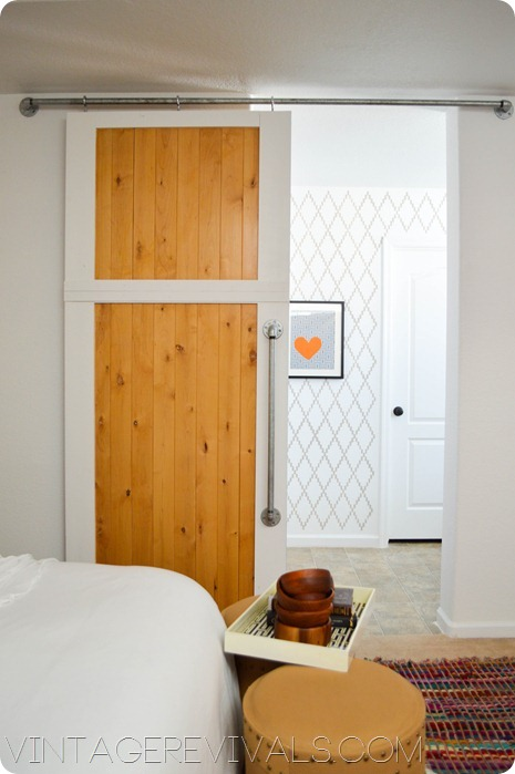 DIY Simple Sliding Barn Door by VR