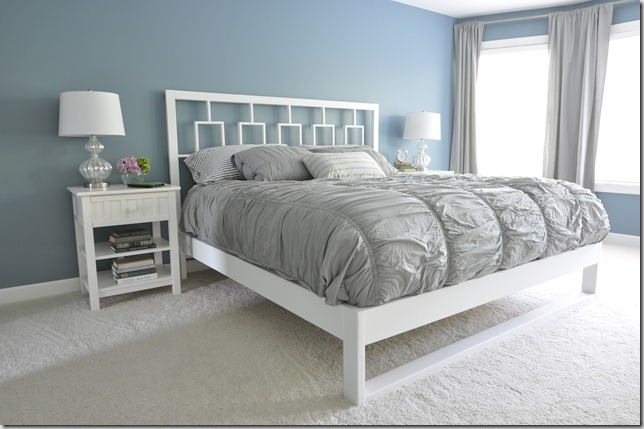 DIY Simple White Bed Frame