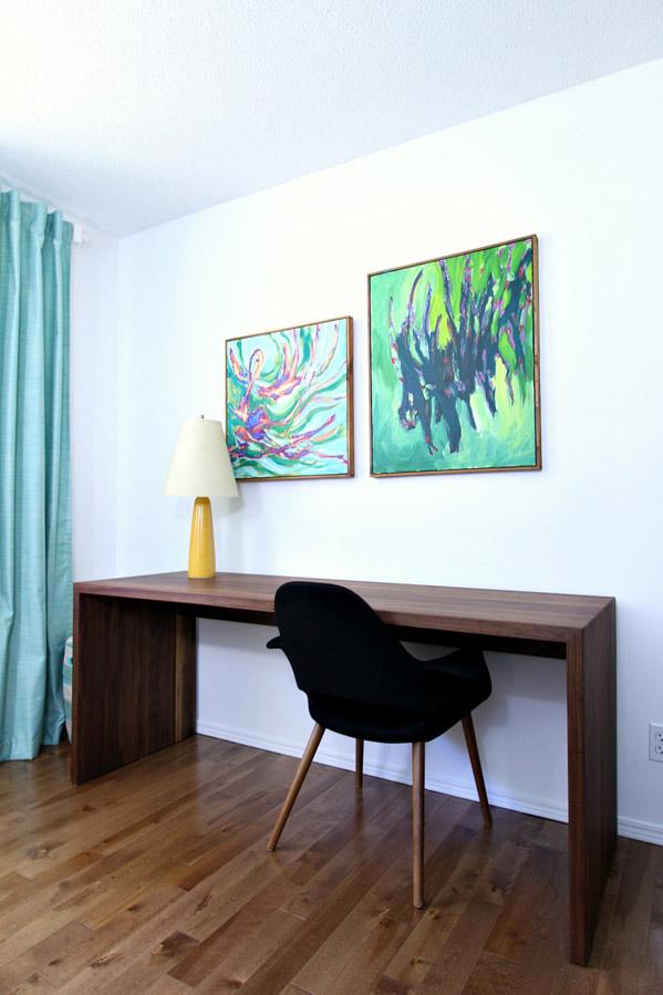 DIY Solid Walnut Waterfall Desk For Two by DansLeLakehouse