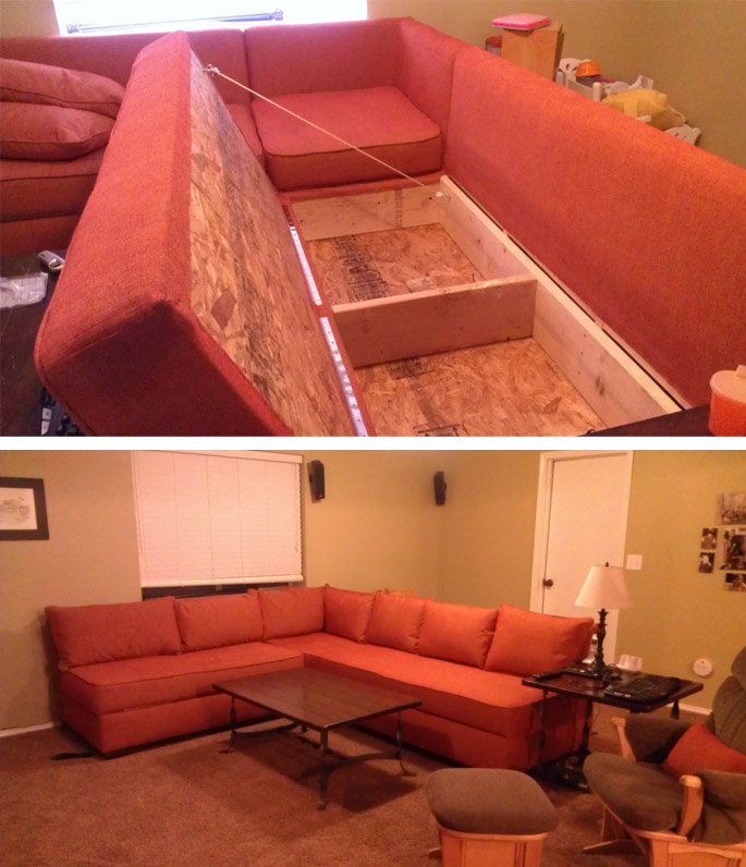 DIY Storage Sectional Sofa