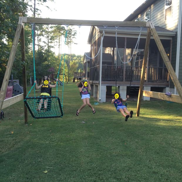 DIY Sturdy A-Frame Swing Set