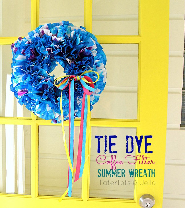 DIY Tie-Dye Coffee Filter Wreath
