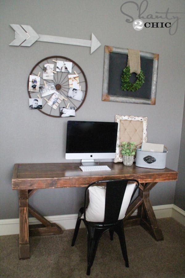 DIY Trestle Desk by Shanty2Chic