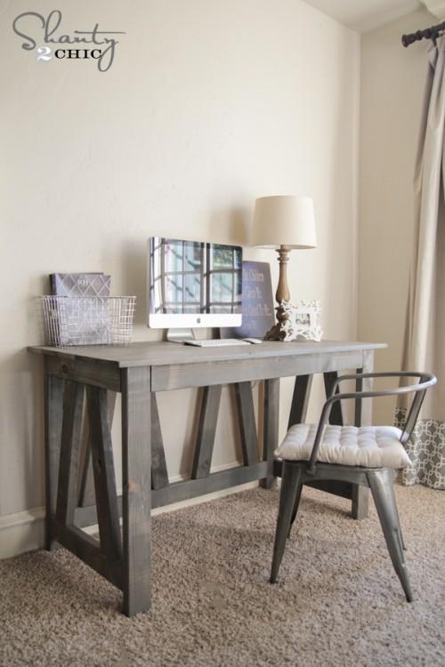 DIY Truss Desk by Shanty2Chic