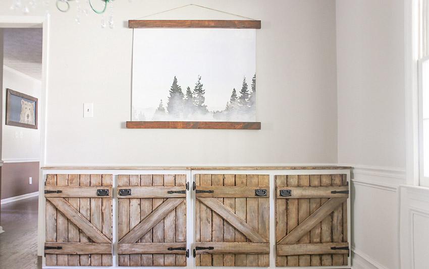 DIY Upcycled Barnwood Style Cabinet