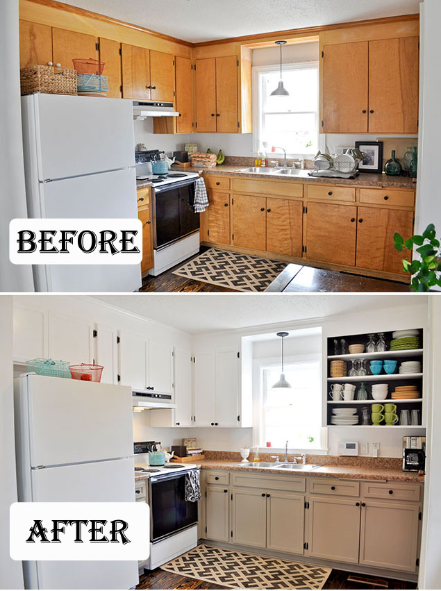 DIY Update Old Cabinets With Trim & Paint