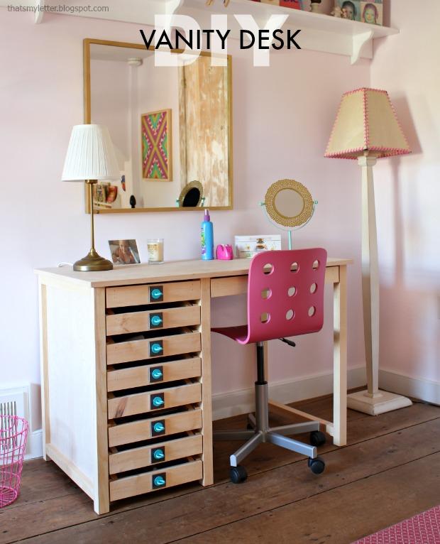 DIY Vanity Desk by That'sMyLetter