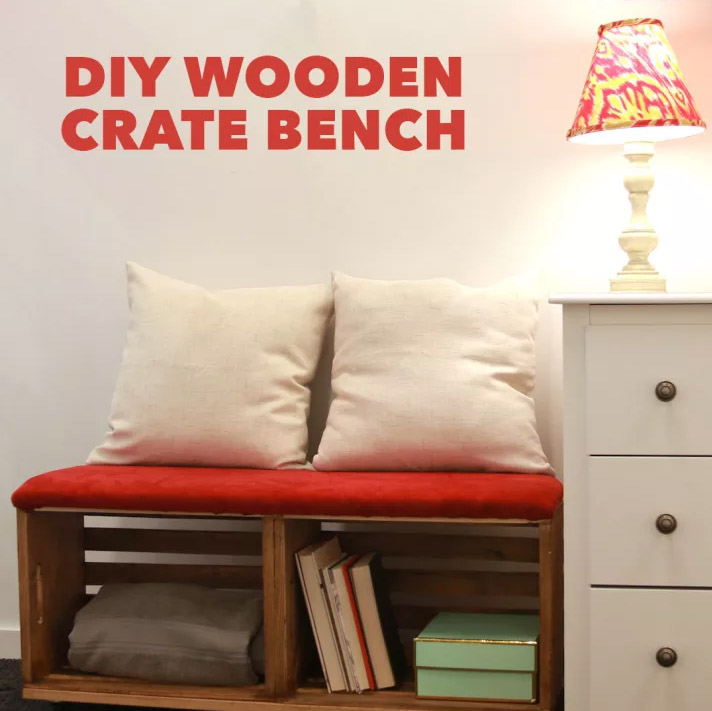 DIY Wooden Crate Bench