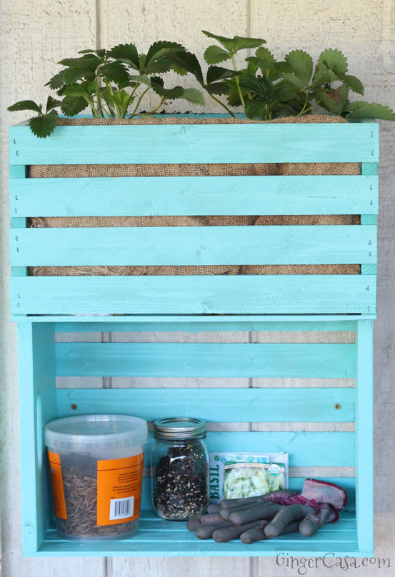 DIY Wooden Crate Planter & Storage