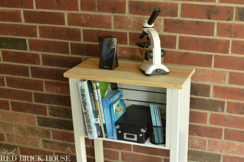 DIY Wooden Crate Storage Table