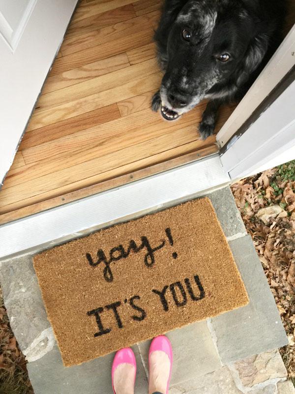 DIY 'Yay! It's you' Doormat