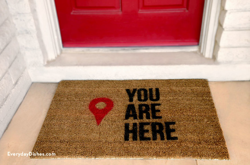 DIY 'You Are Here' Doormat